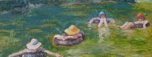river tubing painting