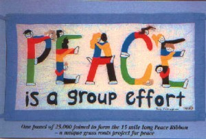 Peace is a Group Effort postcard