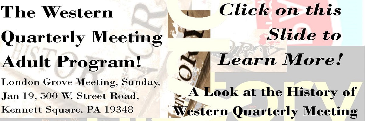 The Western Quarterly Meeting Adult Program Feat. Mark Meyers